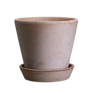 Bergs Potter Julie bloempot met schotel roze 12 cm