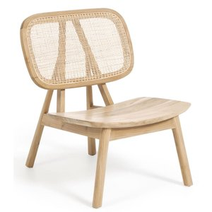 Kave Home Nadra fauteuil massief teak/rotan