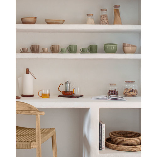 Kave Home Colomba serveermand in natuurlijke vezels Ø 30 cm