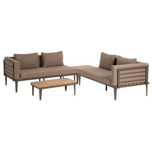 Kave Home Pascale loungeset sofa, salontafel en bijzettafel