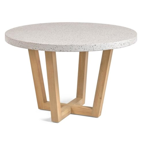 Kave Home Shanelle ronde tuintafel wit terrazzo Ø 120