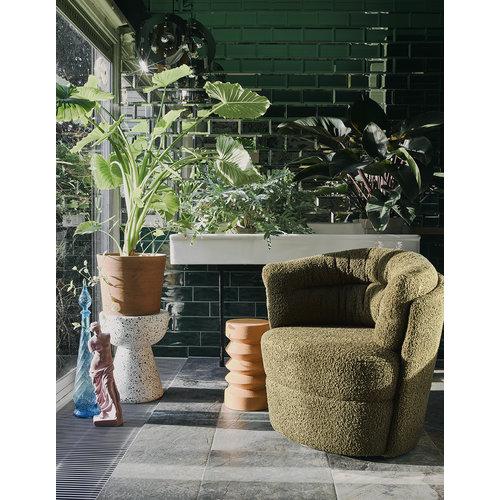 HK Living Bijzettafel terrazzo wit Ø 35 x H 44cm