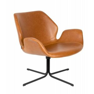 Zuiver Nikki bruin lounge stoel