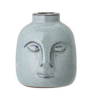 Bloomingville Eliot kaarshouder blauw aardewerk