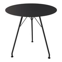 Circum cafétafel zwart metaal/aluminium Ø 74