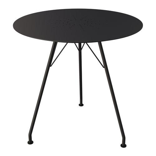 Houe Circum cafétafel zwart metaal/aluminium Ø 74