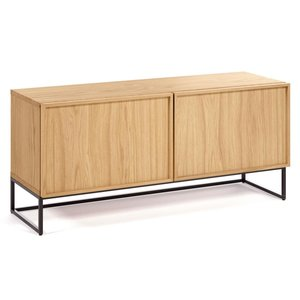 Kave Home Taiana tv-meubel eikenfineer/staal 112 x 42 x H51 cm