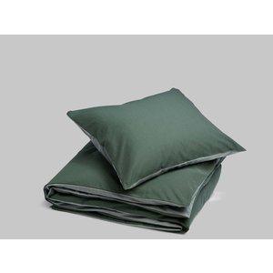 Yumeko Overtrekset katoen tencel dubbelzijdig green stripe/green chambray