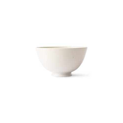 HK Living Kyoto japanse bowl wit gespikkeld