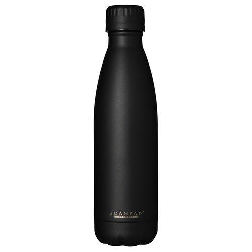 Scanpan To go drinkfles vacuüm Black 500 ml