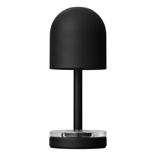 AYTM Luceo draagbare led lamp black & clear Ø 9 x H 22 cm