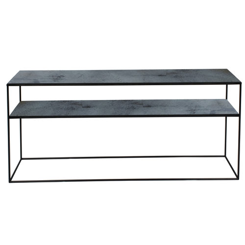 Ethnicraft Aged sofa console charcoal