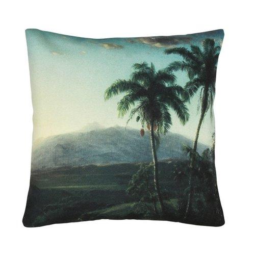HK Living Geprint kussen palmlandschap
