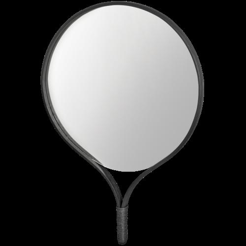 Bolia Racquet spiegel rond zwarte eik 70 x H 101