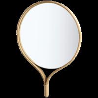 Racquet spiegel rond gezeept eiken 70 x H 101