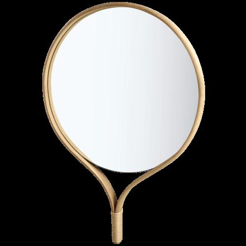Bolia Racquet spiegel rond gezeept eiken 70 x H 101