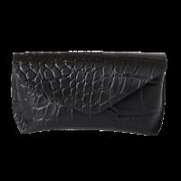 Brillen etui zwart croco leather
