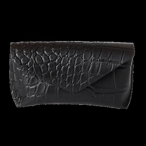 O My Bag Brillen etui - croco leather black