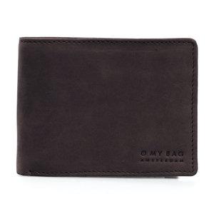 O My Bag Tobi's portefeuille - Hunter Leather Donkerbruin