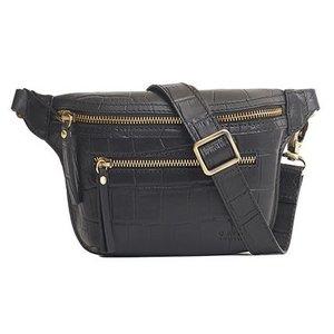 O My Bag Beck's bum bag - croco riem black - croco leather black