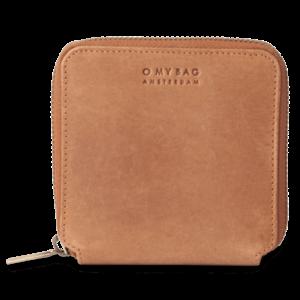 O My Bag Sonny vierkante portefeuille - hunter leather camel