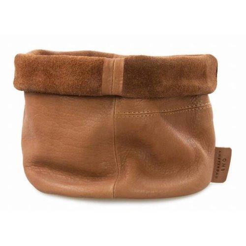 O My Bag Lederen plantenpot - soft grain leather wild oak