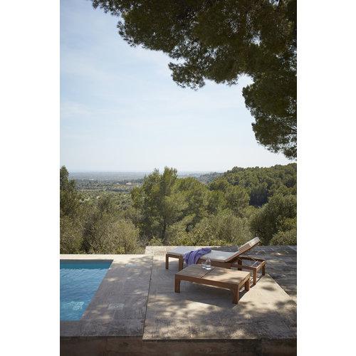 Skagerak Riviera kussen voor zonnebed wit