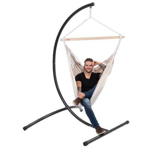 Tropilex Comfort hangstoel wit polykatoen