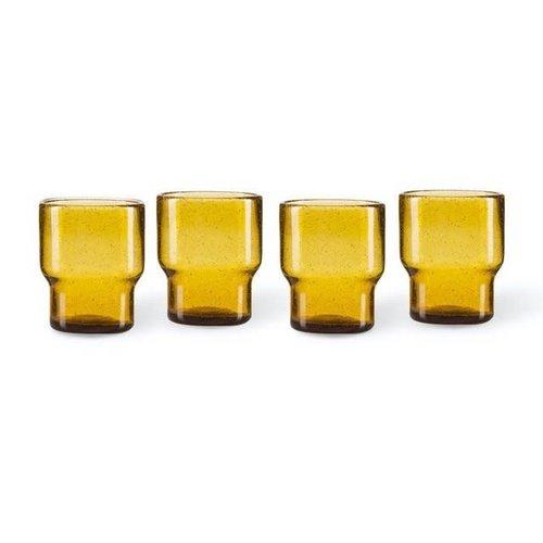 Pols Potten Bubbles waterglas amber - per stuk