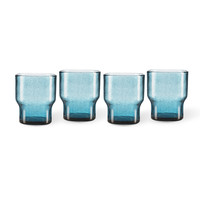 Bubbles waterglas blauw - per stuk