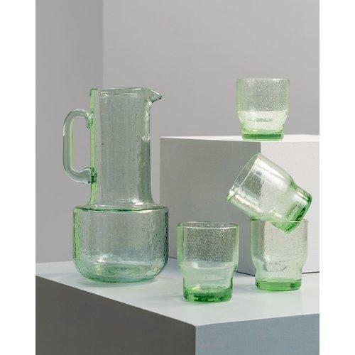 Pols Potten Bubbles waterglas groen - per stuk