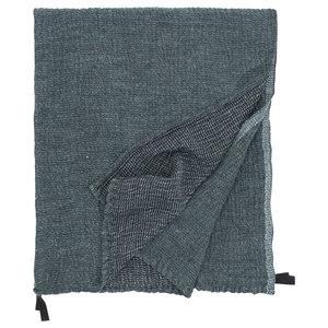 Lapuan Kankurit NYYTTI handdoek black green washed linen-tencel-cotton