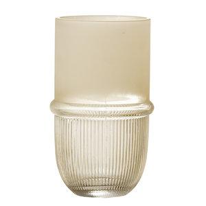 Bloomingville Belise vaas naturel glas