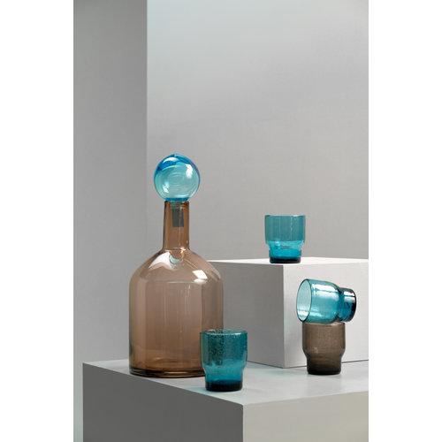 Pols Potten Bubbles waterglas grijsbruin - per stuk