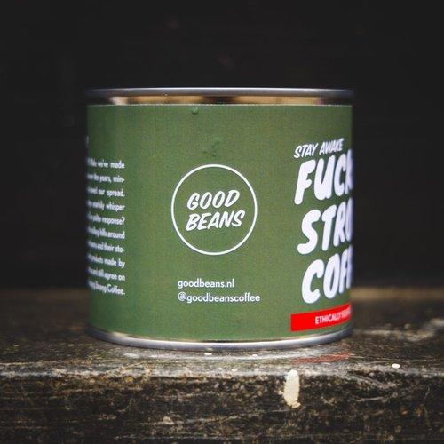 "Goodbeans ""Fucking Strong Coffee"" bonen Peru"