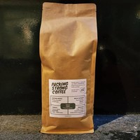"""Fucking Strong Coffee"" gemalen Peru"