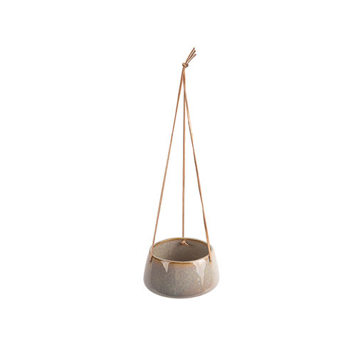 Present Time Unique hangende bloempot grijs
