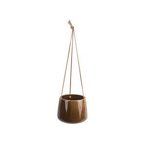 Present Time Unique hangende bloempot caramel large