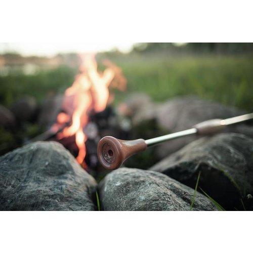 Petromax Blaaspijp uitschuifbaar RVS/hout