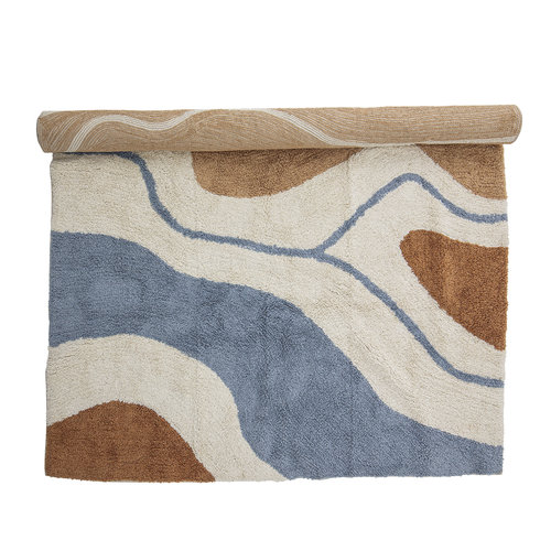Bloomingville Abiola tapijt bruin katoen