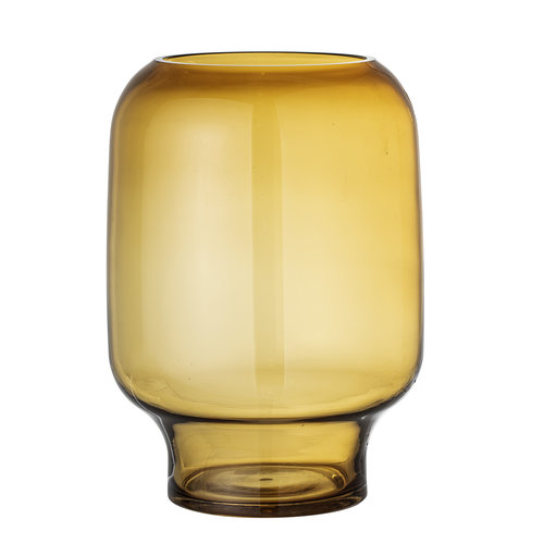 Bloomingville Adine vaas geel glas