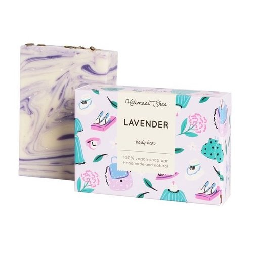 Helemaal Shea Lavendel zeep