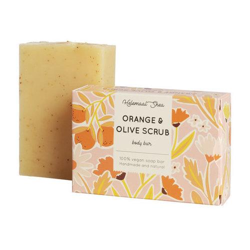 Helemaal Shea Orange & Olive scrubzeep