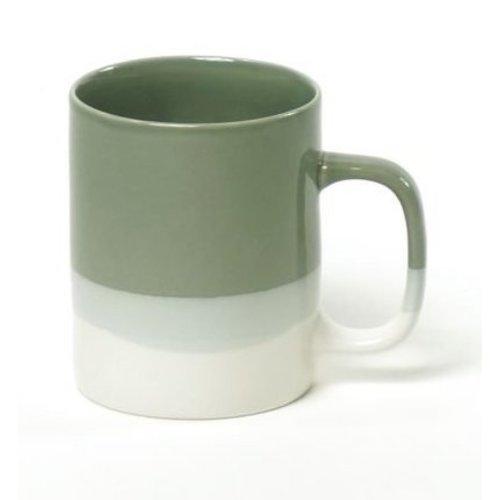Kinta Cyl mok L celadon-wit 350 ml