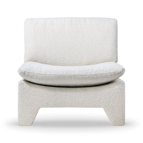 HK Living Retro lounge fauteuil bouclé cream