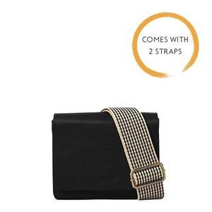 O My Bag Audrey mini handtas - 2 riemen- classic leather black