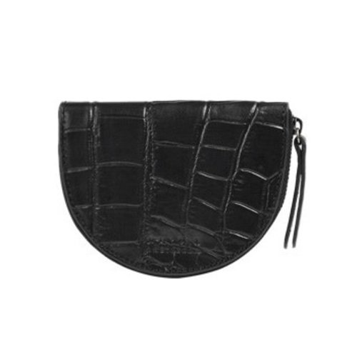 O My Bag Laura portemonnee zwart croco classic leather