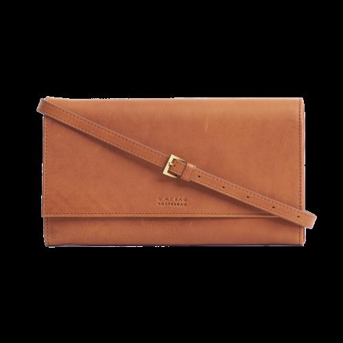 O My Bag Kirsty clutch - stromboli leather cognac