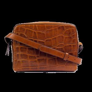 O My Bag Sue handtas - croco classic leather cognac