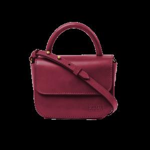 O My Bag Nano handtas - classic leather ruby